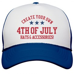 Custom 4th Of July USA Hats