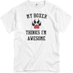 My boxer loves me