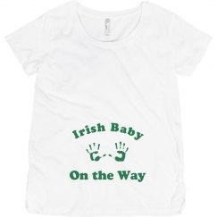Irish Baby on the Way St Patricks Maternity Top