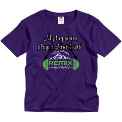 Purple Big Sister Tee