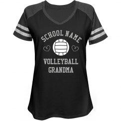 Rhinestone Volleyball Grandma