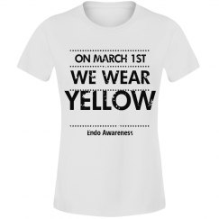 Endo we wear yellow tee