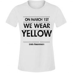 Endo we wear yellow tee