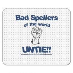 Bad Spellers Mouse Pad blue