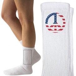 Peaceful Patriot Socks