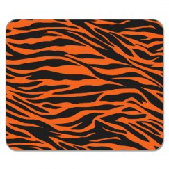 Tiger Print Mouse Pad