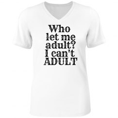 adult? woman's v-neck