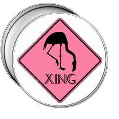 Pink Flamingo Crossing Sign