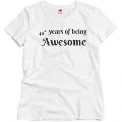 40+ years