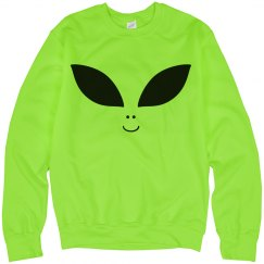Bright Alien Face Top