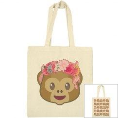 Emoji Monkeys And Flowers