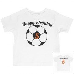 Soccer theme 5th birthday