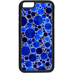 Sapphire Blue Printed Bling Pattern Phone Case