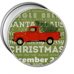 Christmas Metal Tin-Round