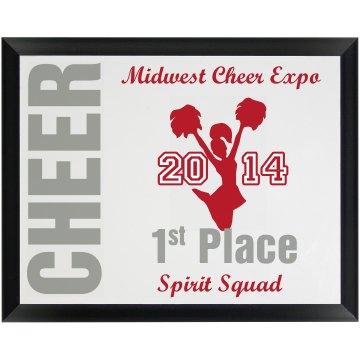 Cheer Plaque
