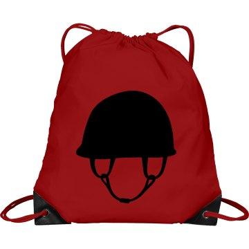 Classic Equestrian Helmet Sack Pack