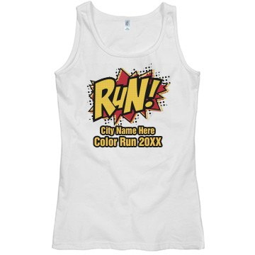 Comic Color Run Tank