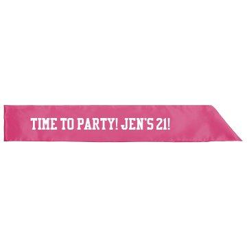 Custom 21 Birthday Sash