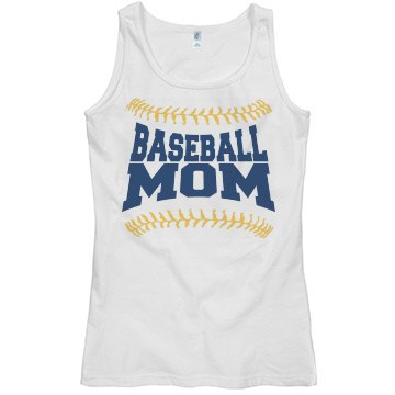 Custom Baseball Mom Tank Top With Numbers