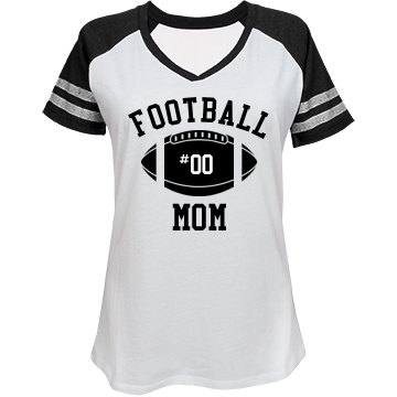 Custom Bling Football Mom