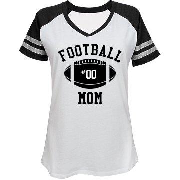 Custom Number Football Mom