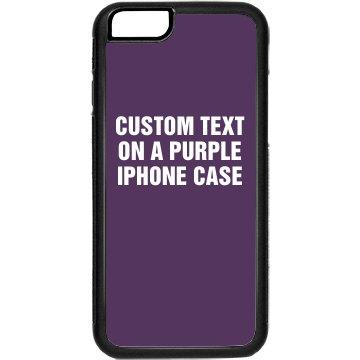 Custom Purple iPhone Case