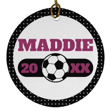 Custom Soccer Ornament