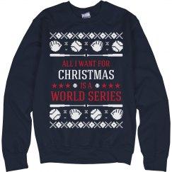 Baseball Ugly Sweater Cleveland