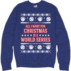 Baseball Ugly Sweater Chicago