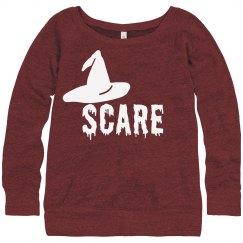 Halloween Scare Witch Hat Tshirt