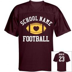 Proud Football Mom School Colors