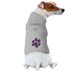 Daddy's Girl dog tee