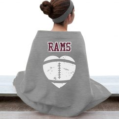 Rams football blanket
