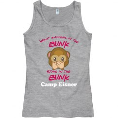 Girls Camp emoji bunk (speak no evil)