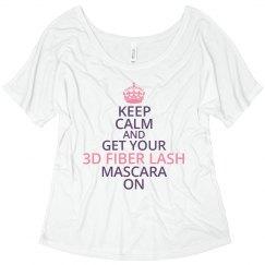 Keep Calm 3D Fiber Lash Tshirt