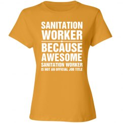 Awesome Sanitation Worker Shirt