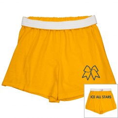 Custom name cheer shorts