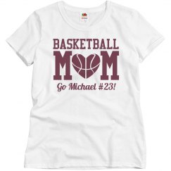 Budget Priced Basketball Mom Shirt With Custom Number