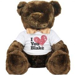 Custom Name I Love You teddy bear