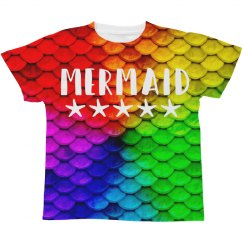 Mermaid Print Kids Tee