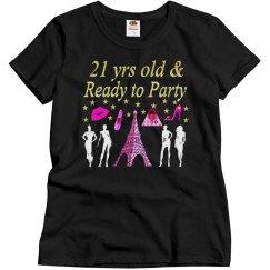 21ST BIRTHDAY PARIS DESIGN