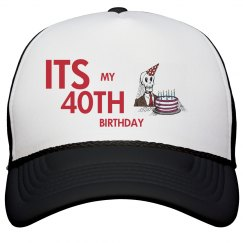Mens 40TH Birthday Hat