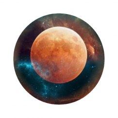 Encircled moon circle coaster