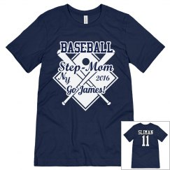 Step-Mom Baseball T-Shirt