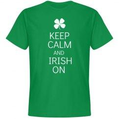 Keep calm and Irish on shirt