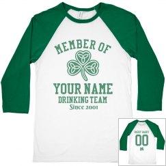 Custom Name Drinking Team
