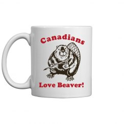 Canadians Love Beaver Mug