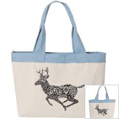 floral deer design