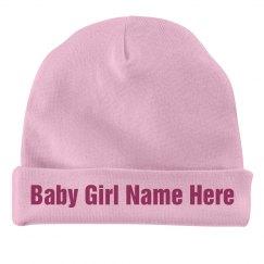Custom Baby Girl Cap
