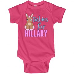 Babies For Hillary Pink